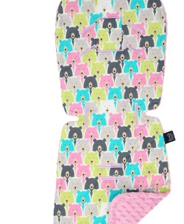 STROLLER PAD - POLAR BEARS - DUSTY ROSE