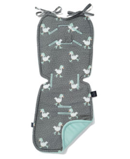 VELVET COLLECTION - THICK STROLLER PAD - DANCING IN THE RAIN DARK - AUDREY MINT