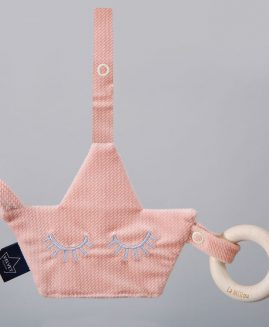 VELVET COLLECTION - PACIFIER COMBO - POWDER PINK