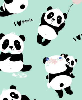 BY MARTA ŻMUDA-TRZEBIATOWSKA - BAMBOO BEDDING MEDIUM SIZE - #ILOVEPANDA MINT