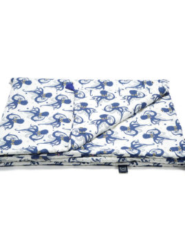 BAMBOO BEDDING KING SIZE - SEA BEAUTIES INK