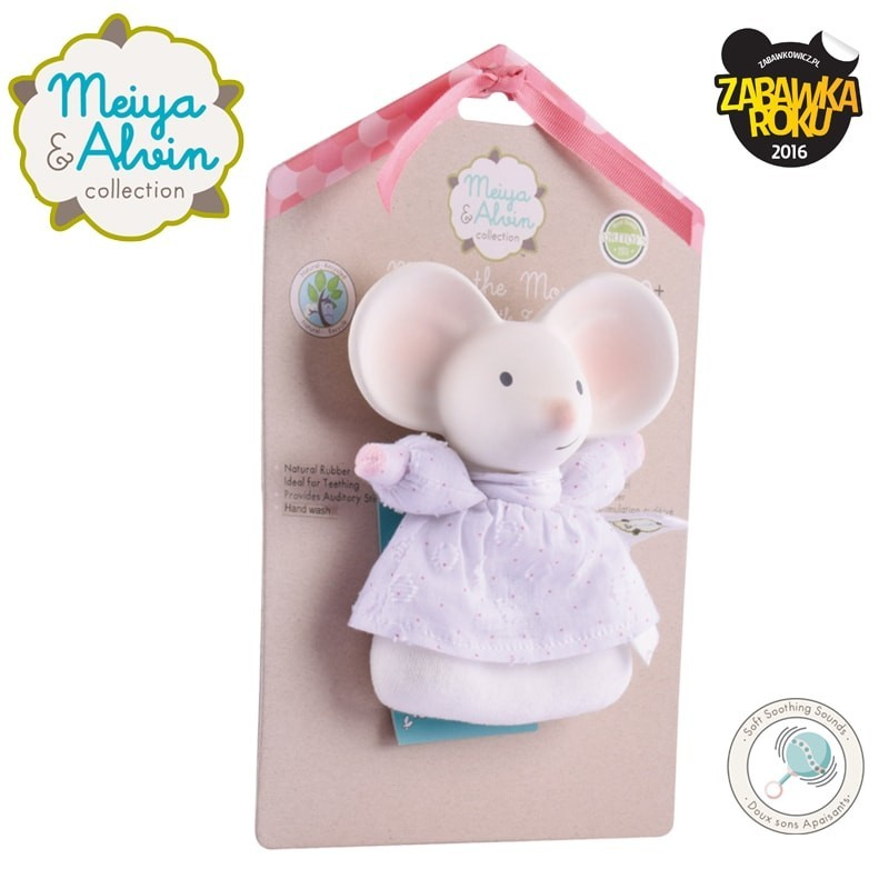 5f800c015b1bb9 Meiya & Alvin - Meiya Mouse Soft Rattle with Organic Teether Head ...